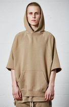 FEAR OF GOD ESSENTIALS Street Style Plain Short Sleeves Hoodies