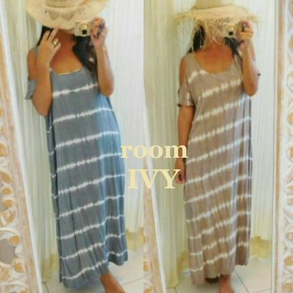 Casual Style Maxi Tie-dye Long Dresses