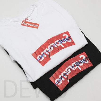 Supreme More T-Shirts Unisex Collaboration Cotton T-Shirts