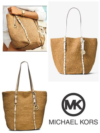 MK studded basket leather large tote