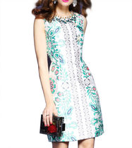 Short A-line Sleeveless With Jewels Party Dresses