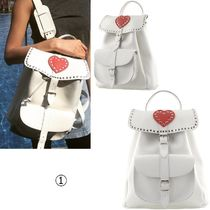 GRAFEA Heart Casual Style Leather Backpacks