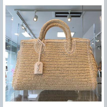 Raffia Rive Gauche Bag Natural