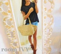 room IVY Casual Style A4 Plain Handmade Totes