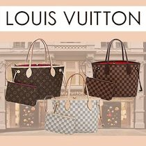 Louis Vuitton DAMIER Monogram Leather Elegant Style Handbags