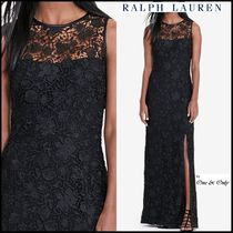Ralph Lauren Maxi Sleeveless Plain Long Lace Party Dresses