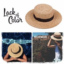 lack of color Street Style Straw Boaters Straw Hats