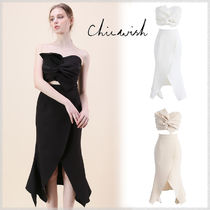 Chicwish Tight Sleeveless Plain Medium Party Dresses