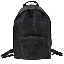ETRO Paisley Casual Style Unisex Faux Fur Backpacks