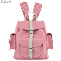 GRAFEA Casual Style 2WAY Bi-color Leather Backpacks