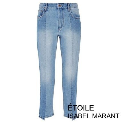 Isabel Marant * Clancy cropped high rise denim