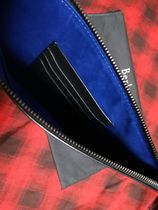 Berluti Unisex Street Style Bag in Bag Leather Clutches
