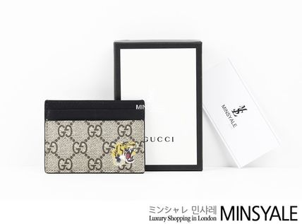 5a620a50bdd9be ... GUCCI Card Holders Tiger GG Supreme card case[London department store  new item] ...