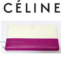 CELINE Classic Calfskin Bi-color Long Wallets
