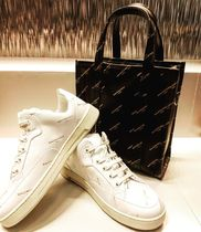 BALENCIAGA BAZAR Black Logo Print Arena Leather Shopper XS Tote