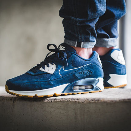 Nike AIR MAX 90 Street Style Plain Sneakers