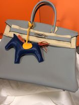 HERMES Birkin Plain Leather Elegant Style Totes