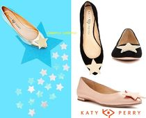 Katy Perry Suede Street Style Plain Ballet Shoes