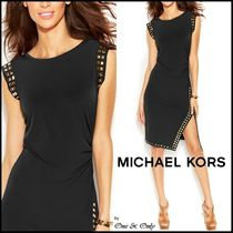 Michael Kors Tight Sleeveless Plain Medium Party Dresses