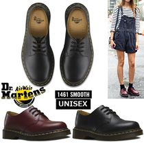 Dr Martens Round Toe Rubber Sole Lace-up Casual Style Unisex Plain