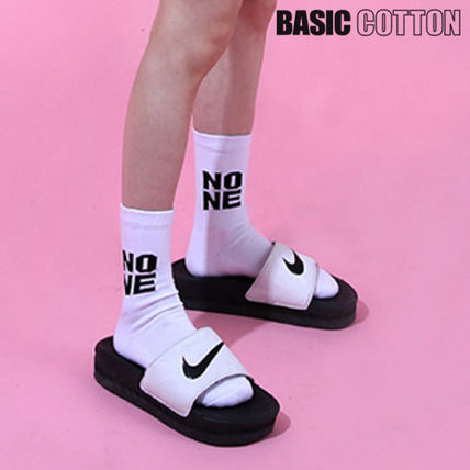BASICCOTTON Korea none socks-wh