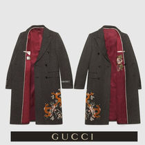 GUCCI Flower Patterns Wool Other Animal Patterns Long