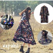 Casual Style Long Fringes Gowns Cardigans