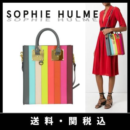 SOPHIE HULME Calfskin A4 2WAY Totes