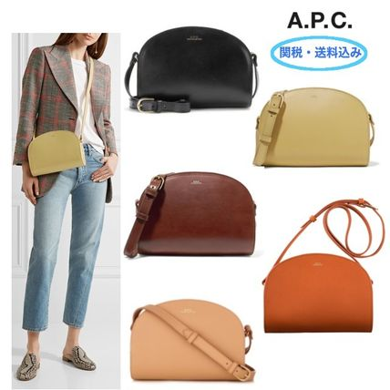 Plain Leather Shoulder Bags