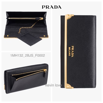 Gold metal fittings point long wallet 1MH132  2 BJS