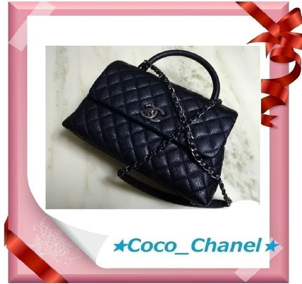 CHANEL Handbags Calfskin 2WAY Chain Plain Elegant Style Handbags