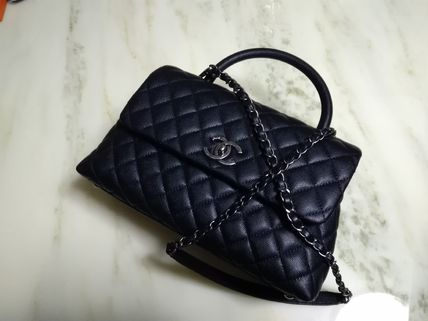 CHANEL Handbags Calfskin 2WAY Chain Plain Elegant Style Handbags 2