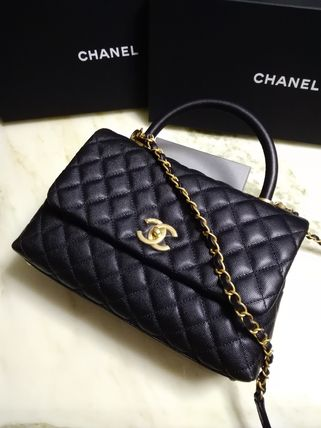 CHANEL Handbags Calfskin 2WAY Chain Plain Elegant Style Handbags 5