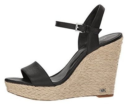 4f166801f2b5 ... Michael Kors Platform   Wedge Open Toe Casual Style Plain Leather  Platform   Wedge Sandals ...