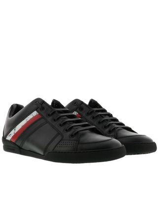 Stripes Leather Sneakers