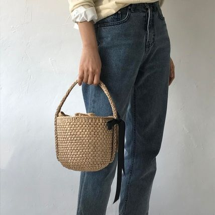 DrawString purse lined with simplebasketcago bag tote back