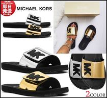 Michael Kors Round Toe Casual Style Plain Shower Shoes Flat Sandals