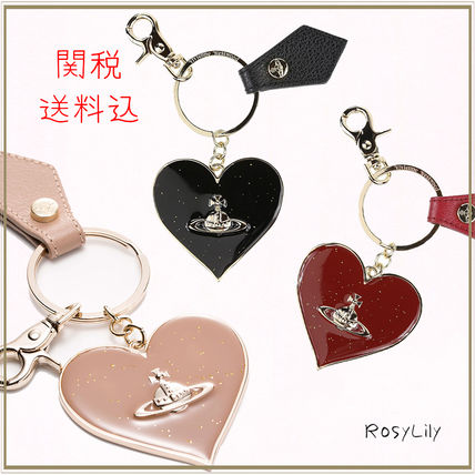 Vivienne Westwood Heart Leather Keychains & Bag Charms