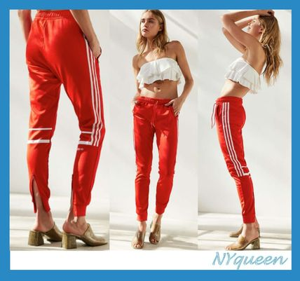 Challenger track pants red