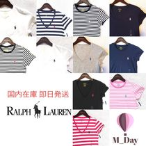 Ralph Lauren Stripes Plain Cotton Short Sleeves T-Shirts