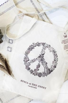 Limited SPELL organic cotton hand-made eco-friendly tote
