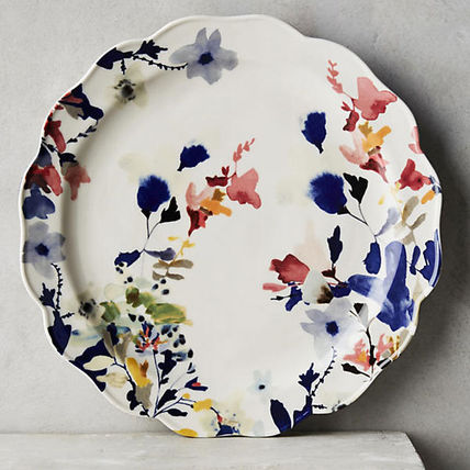 free wrapping Anthropologie floral dinner plate