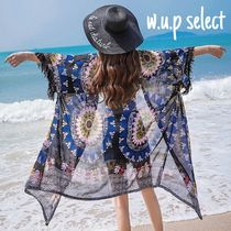 Casual Style Chiffon Long Short Sleeves Gowns Cardigans