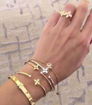 Louis Vuitton Flower 18K Gold Elegant Style Bracelets