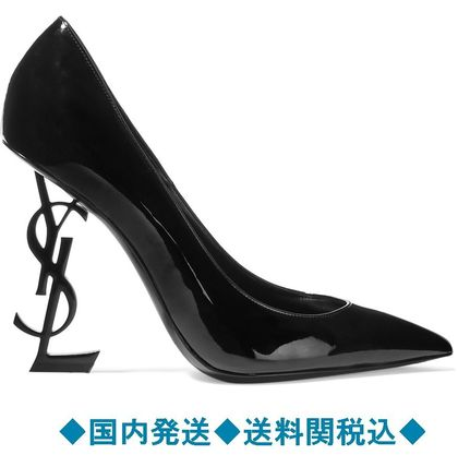 Opium patent-leather pumps