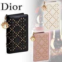 Christian Dior Studded Plain Leather Smart Phone Cases