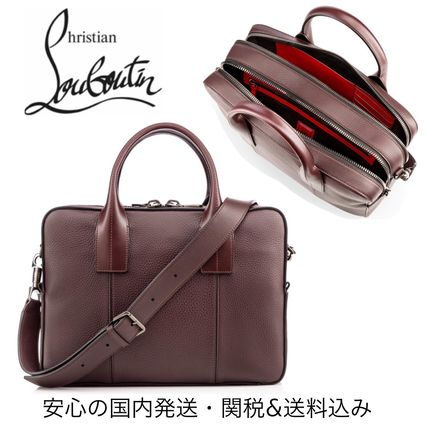 Christian Louboutin mens briefcase tote back