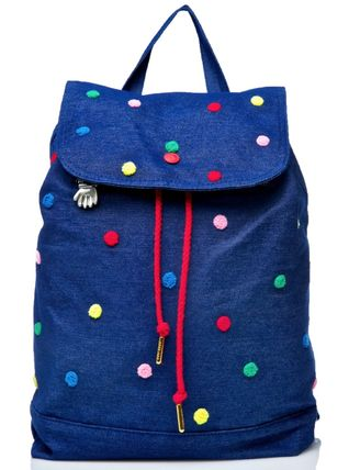 Dots Canvas Street Style Party Style Backpacks