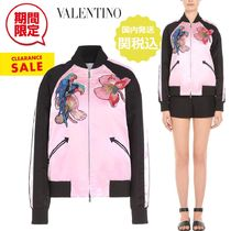 VALENTINO Short Flower Patterns Casual Style Other Animal Patterns