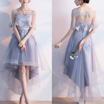 2way tulle dress organdy floral lace embroidery